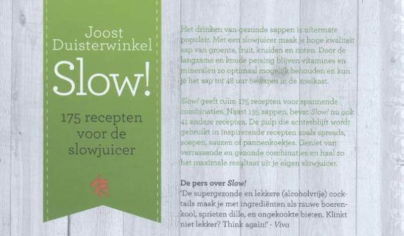 Recepten slowjuicer boek